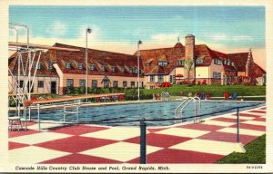Michigan Grand Rapids Cascade Hills Country Club and Swimming Pool Curteich