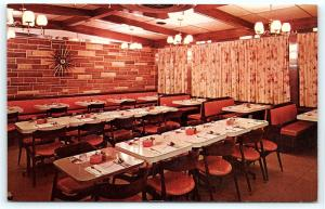 Postcard NJ Phillipsburg Key City Diner Interior B17
