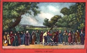 religion postcard postcards Farewell to Bethany Unused