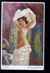 135569 NUDE Belle HAREM Slave Dancer by SCHLEMO vintage PC
