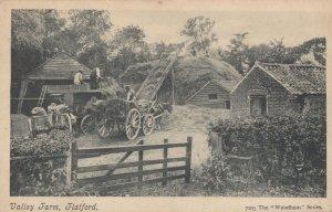 Farmers Haymaking Ladder Valley Farm Flatford Essex Antique Postcard