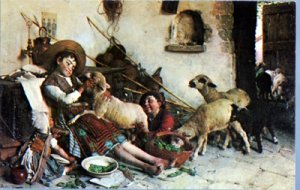 Baltimore MD - 'PLAYMATES' by Gaetano Chiericci in Haussner's Restaurant 1950s