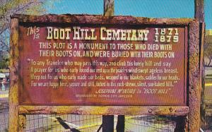 Boot Hill Cemetery sign , Dodge City , Kansas, 40-60s