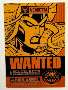 2000 Scuzzle Wanted Vendetta Promo Postcard Crimes Against Cyberspace Super Hero