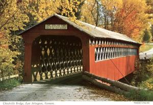 Chiselville Covered Bridge - East Arlington VT, Vermont - pm 1968
