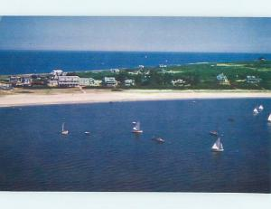 Unused Pre-1980 POSTCARD AD FOR WAUWINET COTTAGES Cape Cod - Nantucket MA B5613