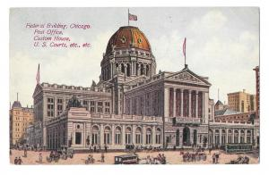 IL Chicago Federal Building Post Office US Courts Custom House Vtg 1913 Postcard
