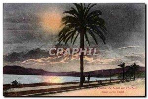 Old Postcard Sunset From Solell On I & # 39Esterel