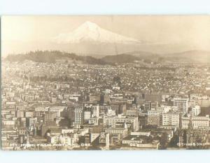 Pre-1950 rppc NICE VIEW Portland Oregon OR W0076