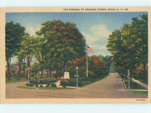 Linen ROAD OR STREET SCENE Utica New York NY hJ5938