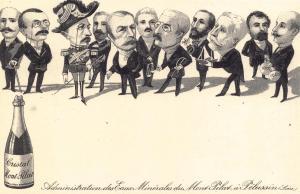 Postcard Vintage Cristal Mont Pilat Ministere Waldeck Rousseau French Repro