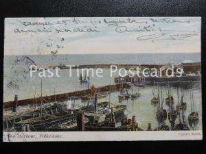 c1905 - The Harbour, Folkestone - Pub: Upton Series