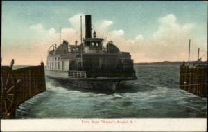 Bristol RI Ferry Boat c1905 Postcard