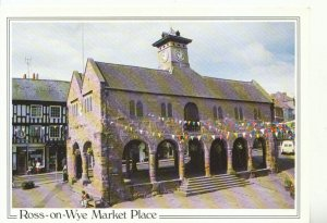 Herefordshire Postcard - Ross-on-Wye - Market Place - Ref 17980A