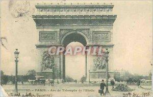 Old Postcard Paris Arc de Triomphe Etoile