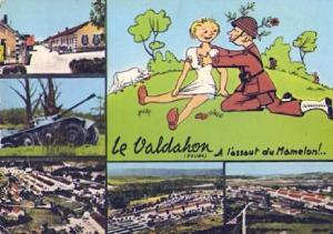 POSTAL 57587: Le Valdahon (Doubs) A l assaut du Mamelon!..
