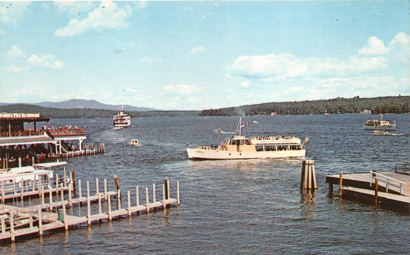 Weirs Beach New Hampshire~Daily Excursion Boats @ Lake Winnipesaukee~Pier~1977