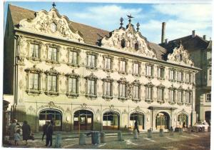 Germany, Würzburg, Haus zum Falken, dated unused Postcard