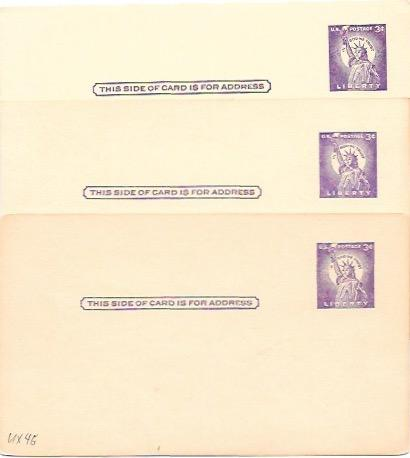 US  Pre-stamped 3 Mint Postcards UX46 Statue of Liberty