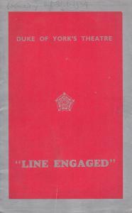 Line Engaged Jack De Leon Comedy Duke Of Yorks London Theatre Programme