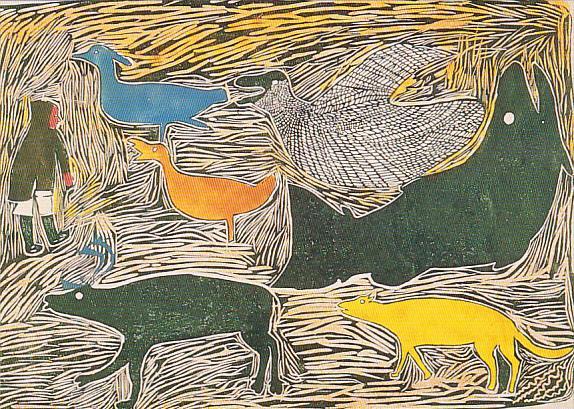 Baker Lake , Nunavut , Canada , 1987 ; Artist Marion Tuu'luuq ; Creatures of...