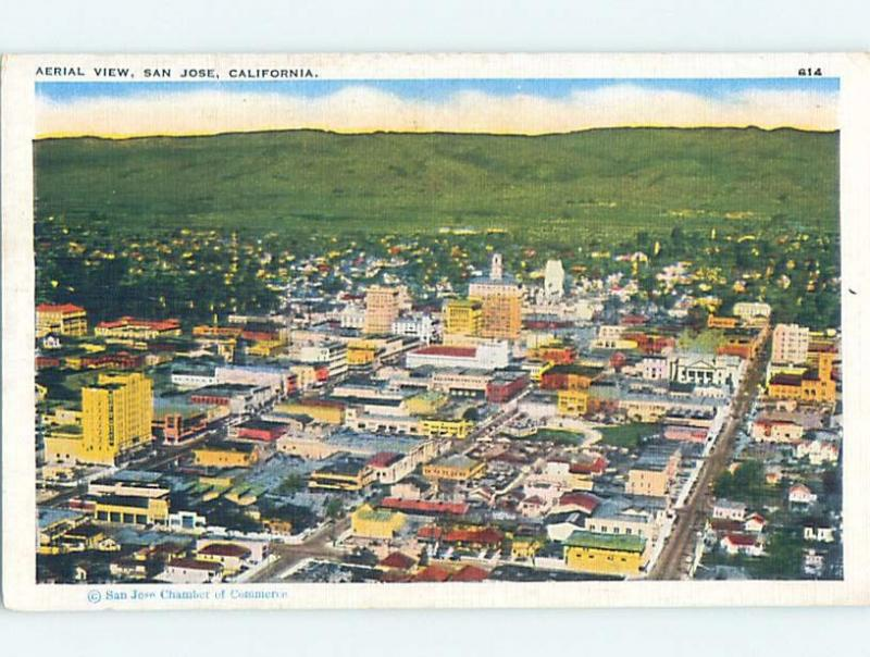 Unused Linen AERIAL VIEW San Jose California CA A4814
