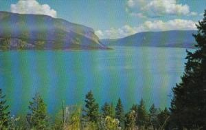 Canada Shuswap Lake On The Trans-Canada Highway British Columbia