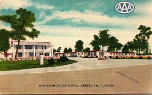 Florida Crestview Highland Court Motel