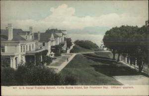Yerba Buena Island San Francisco CA Training School Officers Quarters c1910