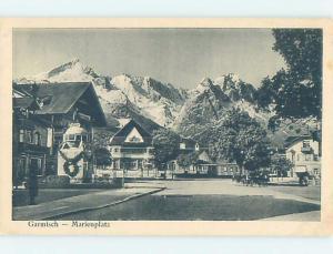 Old Postcard MARIENPLATZ Garmisch - Partenkirchen In Bavaria Germany F5402