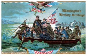 George Washington  , Birthday , Crossing the delaware