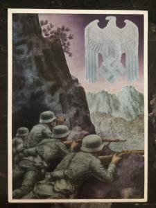 Mint Germany Patriotic Postcard Mountaineer Gebirgsjäger Whermacht WW2