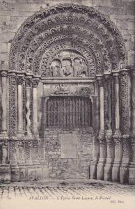 L'Eglise Saint-Lazare,  Le Portail, Avallon (Yonne), France, 1900-1910s