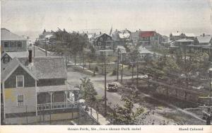 Ocean Park Maine Birdseye View Of City Antique Postcard K94009