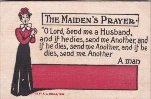 Humour The Maiden's Prayer O Lord Send Me A Husband 1907
