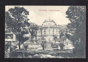 WURZBURG GERMANY HOFGARTENPARTIE ANTIQUE VINTAGE POSTCARD
