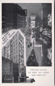 New York City The Strand Hotel and Times Square