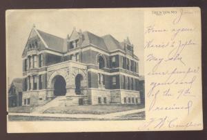 TRENTON MISSOURI NORRIS LIBRARY VINTAGE POSTCARD WARRENSBURG MO. 1907