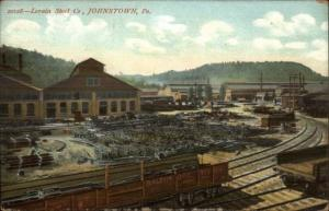 Johnstown PA Lorain Steel Co c1910 Postcard