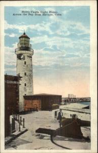 Havana Cuba Morro Castle Lighthouse c1920 Postcard Publ Milwaukee WI