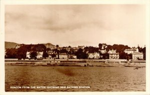 RPPC Dunoon From the Water Showing New Bathing Station Scotland Unused Postcard