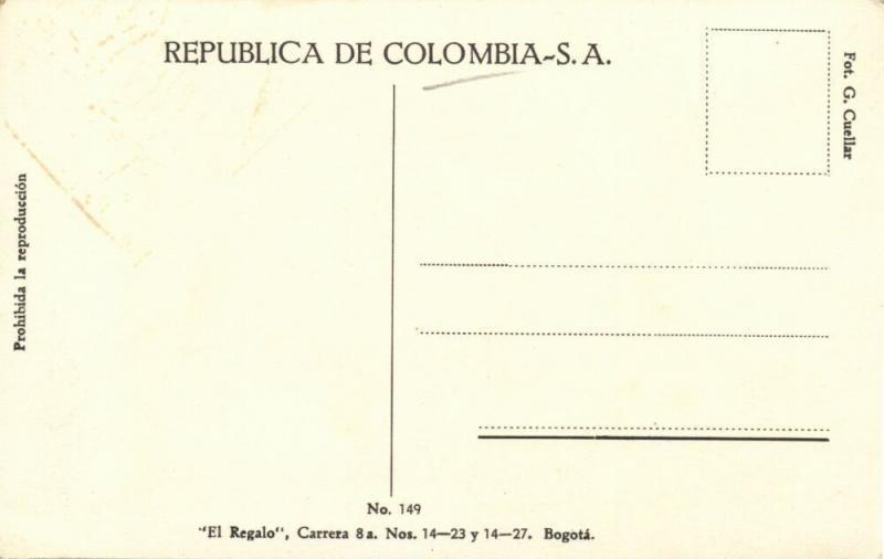 colombia, BOGOTA, Barrio Residencial de Santa Teresita (1930s) El Regalo No. 149