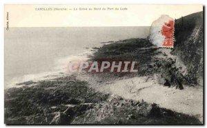 Old Postcard Carolles La Greve north of Port du Lude