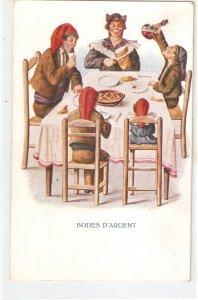 J. Ibañez. Silver Wedding celebration Nice vintage Spanish postcard