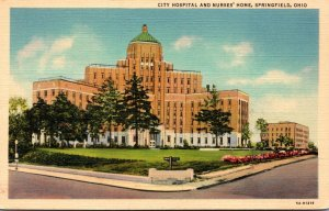 Ohio Sprinfield City Hospital and Nurses' Home Curteich