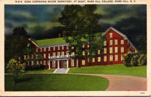 North Carolina Mars Hill Edna Corpening Moore Dormitory At Night Mars Hill Co...