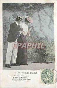 Old Postcard If you love me Wanted Your Life And a Dream a Dream Spring would...