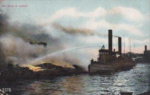 New York Fire Boat In Action 1908