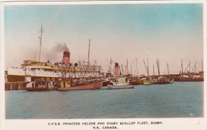 RP: C.P. SS PRINCESS HELENE & Scallop Fleet , DIGBY, Nova Scotia , Canada ,...