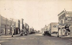 Caro IL Street View Chevrolet Dealership Store Fronts Old Cars RPPC Postcard